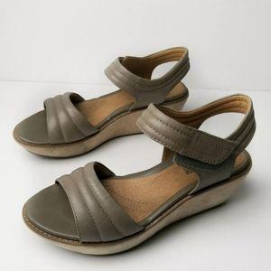 Clarks Grey Hazelle Elba Open Toe Sandals
